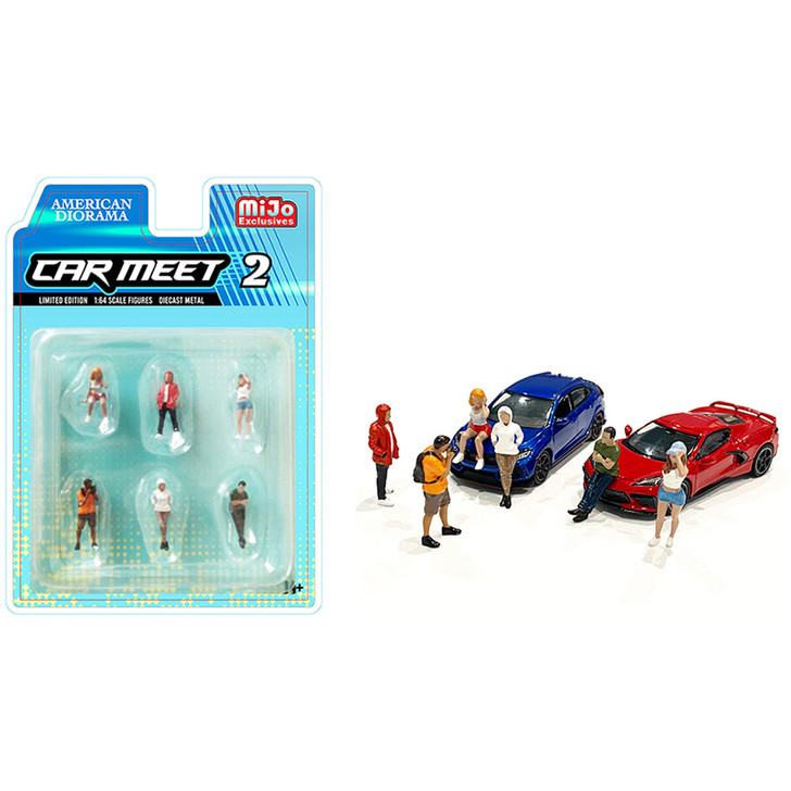 Car Meet 2 - 1:64 Diecast Figure Collection 1:64 Scale Diecast Model by American Diorama Main Image