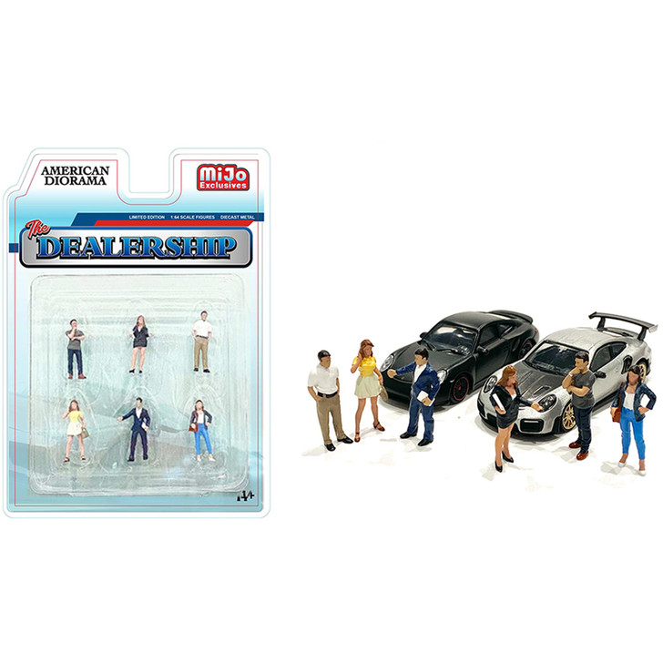 Auto Dealership 1:64 Diecast Figure Collection 1:64 Scale Diecast Model by American Diorama Main Image