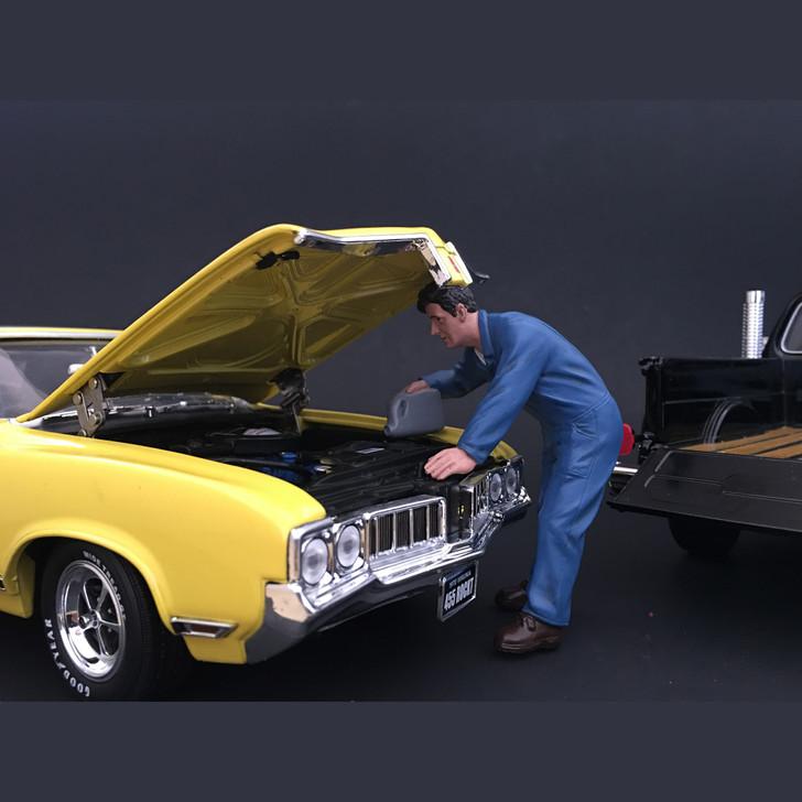 Doug Adding Engine Oil Mechanic Figure Main Image