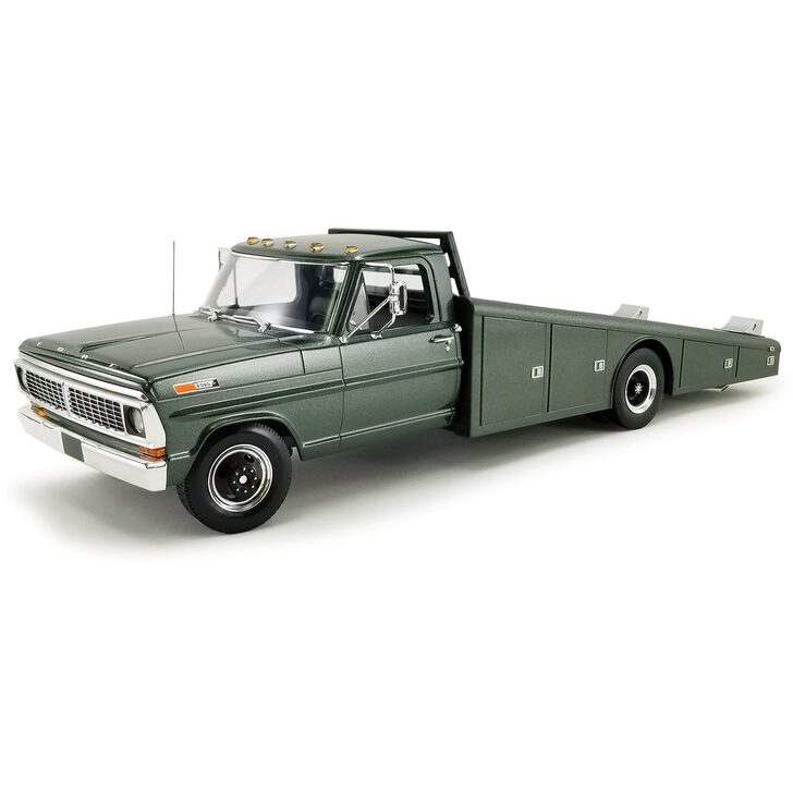 1970 Ford F-350 Ramp Truck - Highland Green 1:18 Scale Main Image