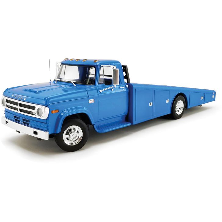 1970 Dodge D-300 Ramp Truck - Corporate Blue 1:18 Scale Main Image