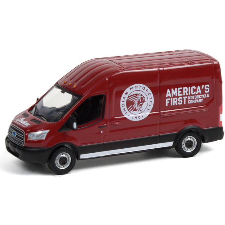 2015 Ford Transit LWB High Roof - Indian Motorcycle Sales & Service 1:64 Scale Main Image