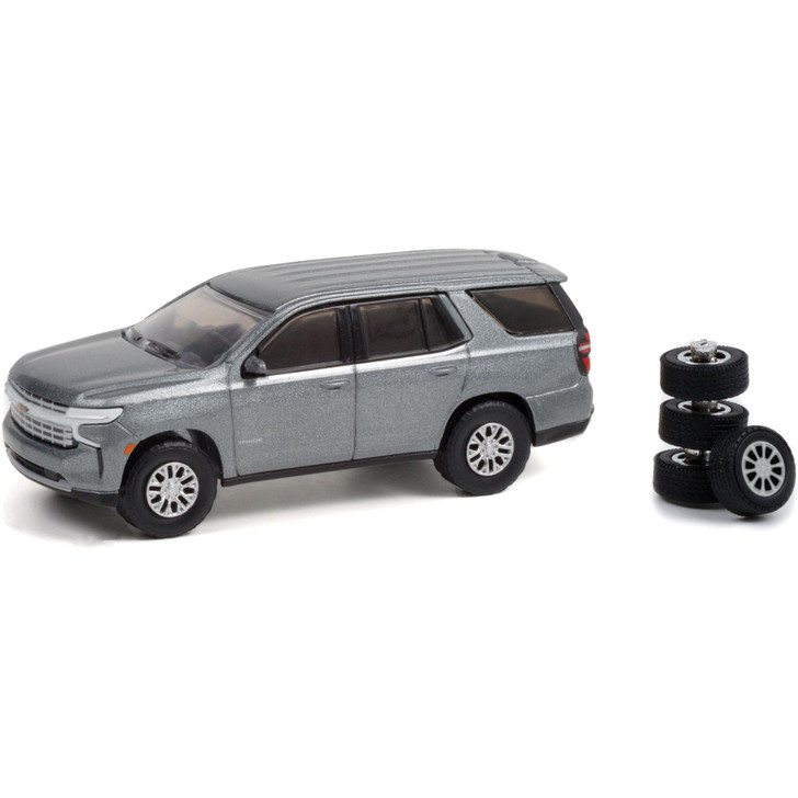 2021 Chevrolet Tahoe with Spare Tires - Satin Steel Metallic 1:64 Scale Main Image