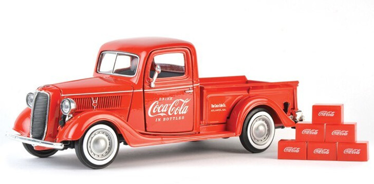 Motor City Classics 1937 Coca-Cola Ford Pickup and Soda Cartons 124 Scale Diecast Model by Motor City Classics 18309NX
