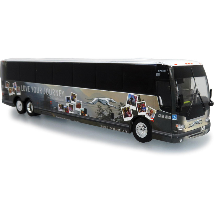 """2019 PREVOST X345 GREYHOUND """"LOVE YOUR JOURNEY"""" SPECIAL EDITION 1:87 Scale Main Image"""