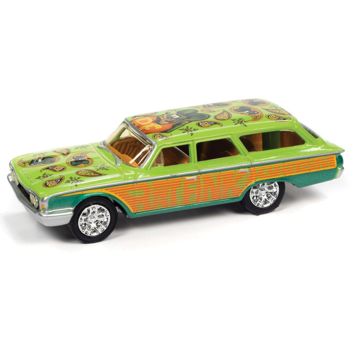 1960 Ford Rat Fink Country Squire - Green&Orange 1:64 Scale Main Image