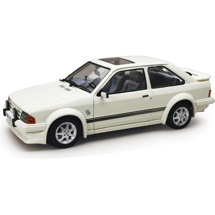 1984 Ford Escort RS Turbo - White - Right Hand Drive 1:18 Scale Main Image