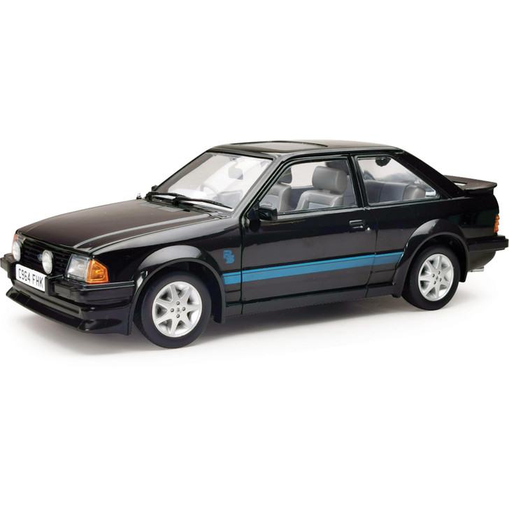 1984 Ford Escort RS Turbo - Black - Right Hand Drive 1:18 Scale Main Image