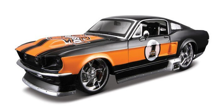 Maisto 1967 Ford Mustang Harley Street Rod - black 124 Scale Diecast Model by Maisto 10187CM