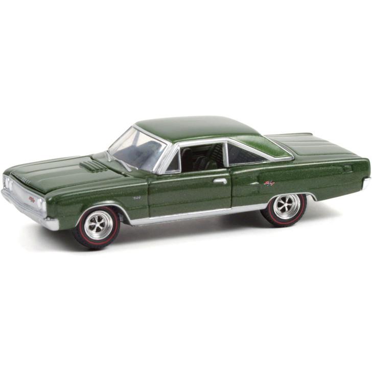 1967 Dodge Coronet R/T Hemi - Dark Green Poly 1:64 Scale Main Image
