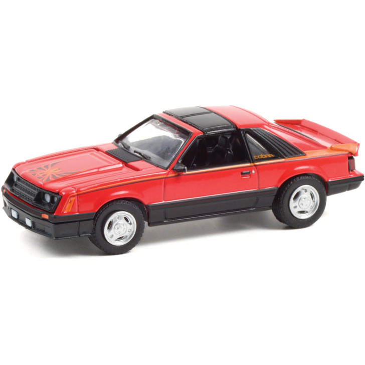 1981 Ford Mustang Cobra - Bright Red 1:64 Scale Main Image