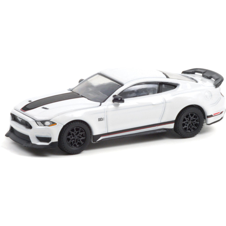 2021 Ford Mustang Mach 1 - Oxford White 1:64 Scale Main Image