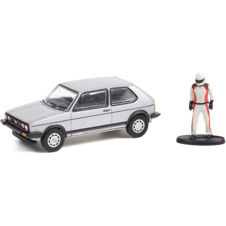 1976 Volkswagen Golf MkI GTI with Race Car Driver - Silver 1:64 Scale Main Image