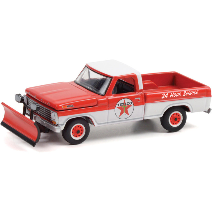 1968 Ford F-250 with Snow Plow - Texaco Service 1:64 Scale Main Image