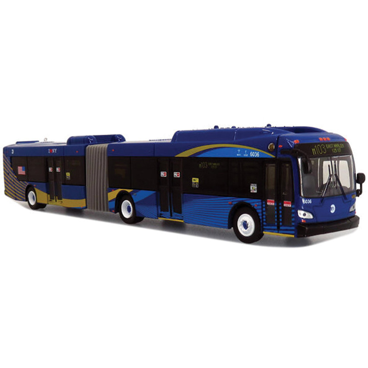 NFI XCELSIOR XD60 ARTICULATED TRANSIT BUS:  MTA NYC 1:87 Scale Main Image