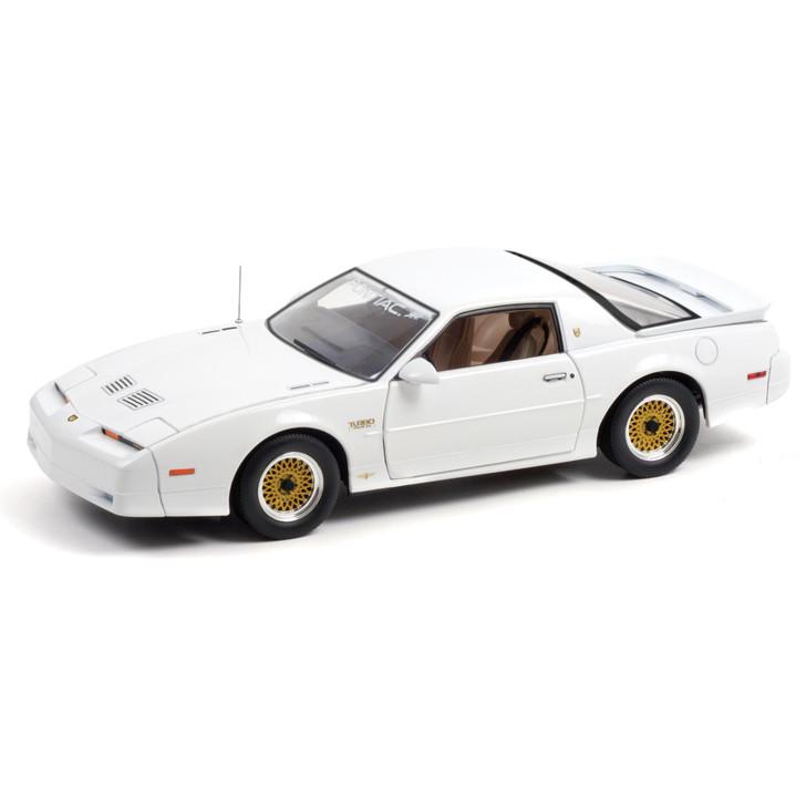 1989 Pontiac Turbo Trans Am (TTA) Hardtop - 20th Anniversary Pilot Car - White with Tan Leather Trim 1:18 Scale Main Image