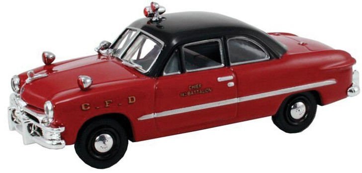 Diecast Direct 1949 Ford Fire Chief Car 143 Scale Diecast Model by Diecast Direct 13943NX