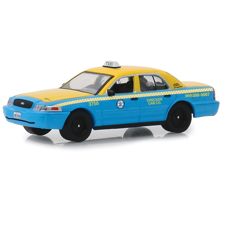 Greenlight 2011 Ford Crown Vic LA Checker Taxi 164 Scale Diecast Model by Greenlight 19607NX