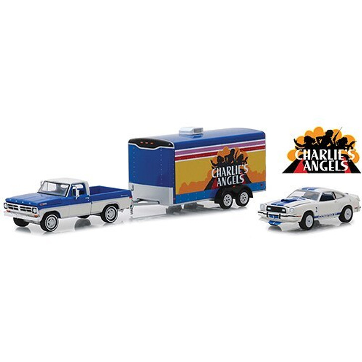 Greenlight Charlies Angels Mustang Cobra Tow and Hitch Collection 164 Scale Diecast Model by Greenlight 18990NX