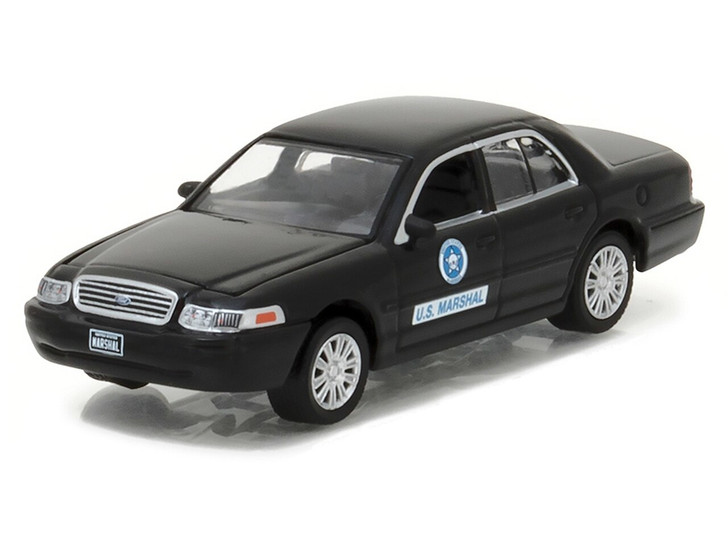 Greenlight 164 Hot Pursuit Series 24 - 2008 Ford Crown Victoria Police Interceptor - US Marshal Service Solid Pack 164 Scale Diecast Model by Greenlight GL42810-D