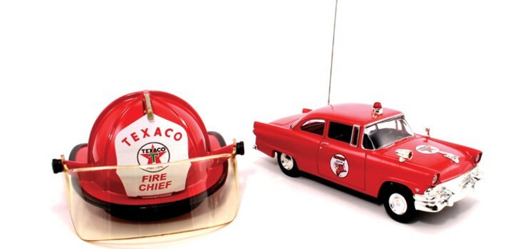 First Gear 1956 Ford Texaco Fire Chief Car andamp; Helmet 134 Scale Diecast Model by First Gear 12140NX