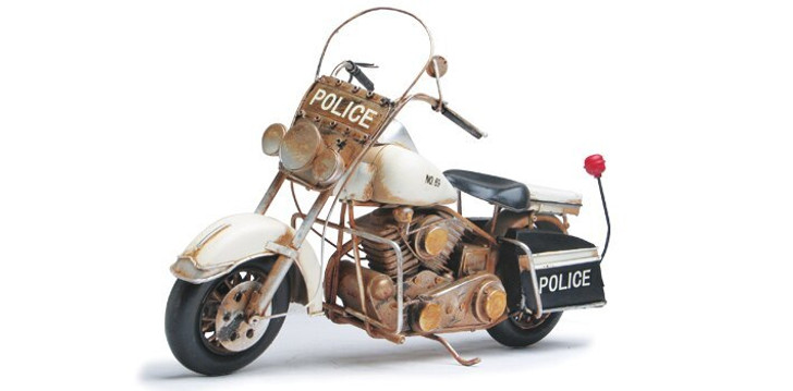 Upper Deck Police Hardtail Motorcycle Diecast Model by Upper Deck 14638NX