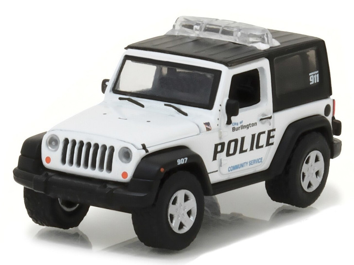 Greenlight 164 Hot Pursuit Series 23 - 2009 Jeep Wrangler - Burlington, Wisconsin Solid Pack 164 Scale Diecast Model by Greenlight GL42800-D