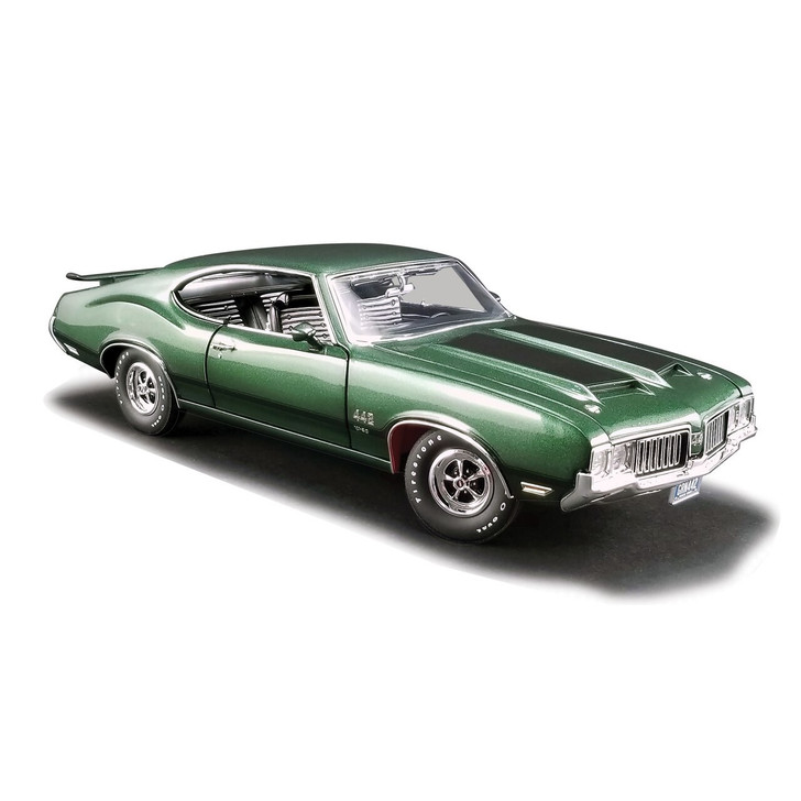 Acme 1970 Olds 442 W-30 - Sherwood Green 118 Scale Diecast Model by Acme 19511NX