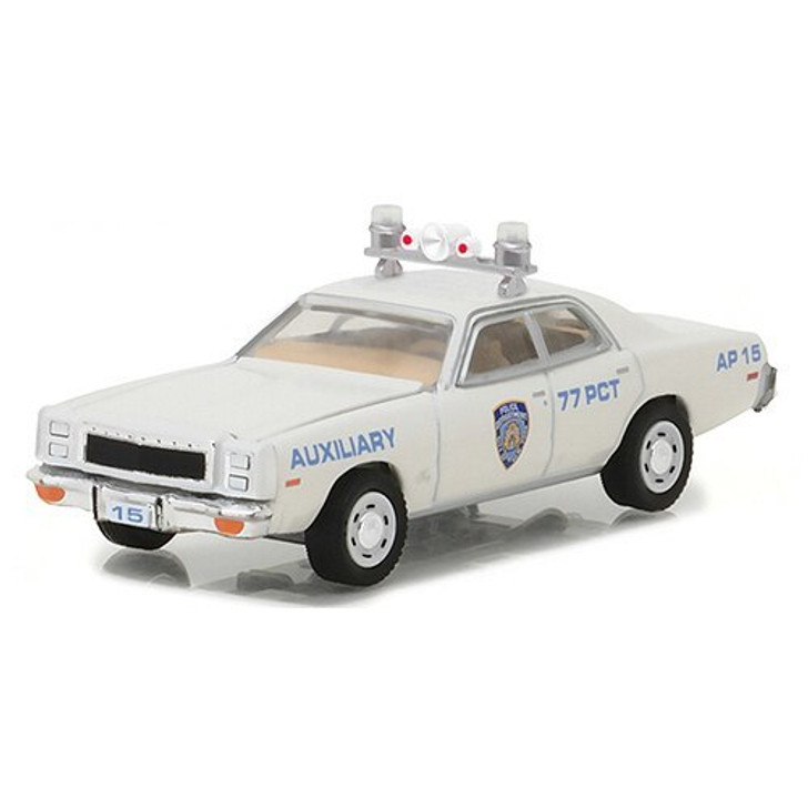 Greenlight 1977 Plymouth Fury NYPD Auxiliary Police Car 164 Scale Diecast Model by Greenlight 17786NX