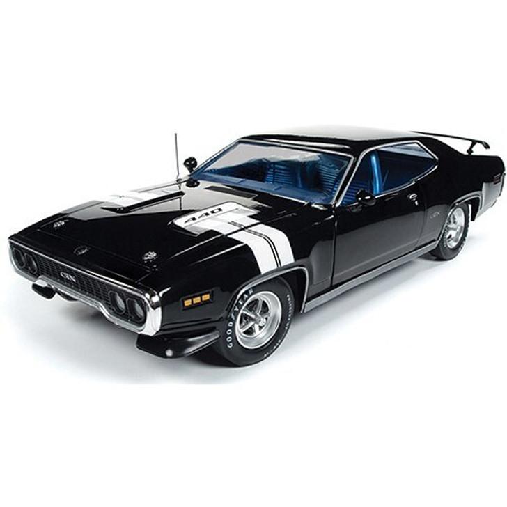 American Muscle - Ertl 1971 Plymouth GTX Hardtop - Black 118 Scale Diecast Model by American Muscle - Ertl 19289NX