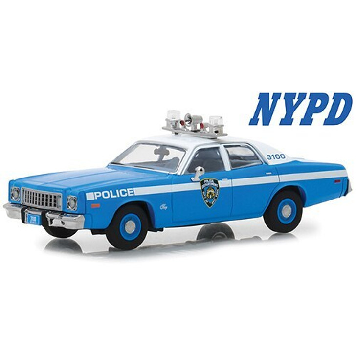 Greenlight 1975 NYPD Plymouth Fury 143 Scale Diecast Model by Greenlight 18406NX