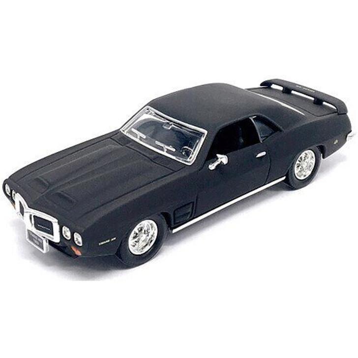 Road Signature 1969 Pontiac Firebird Trans AM - Matte Black 143 Scale Diecast Model by Road Signature 15358NX 888693043838