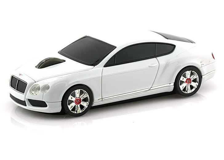 Landmice Landmice Bentley Continental GT Wireless Computer Mouse -- White Diecast Model by Landmice LMM-8807-WH