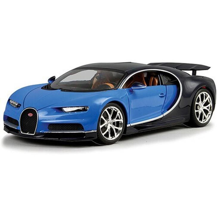 Bburago Bugatti Chiron Supercar - blue 118 Scale Diecast Model by Bburago 17509NX