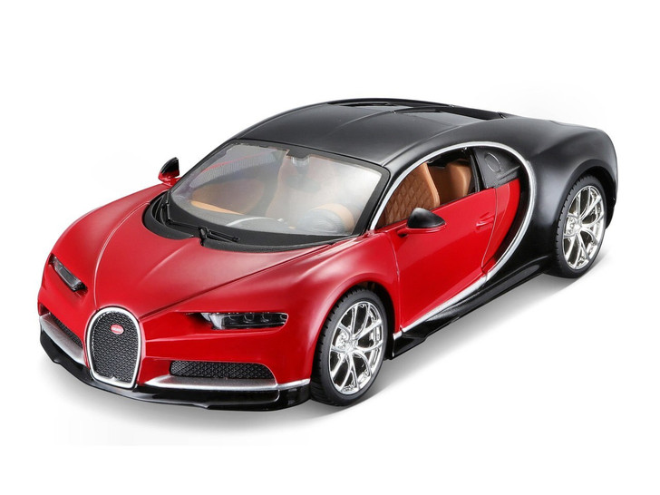 Maisto 1/24 Assembly Line Bugatti Chiron Red by Maisto 124 Scale Diecast Model by Maisto MA39514RD