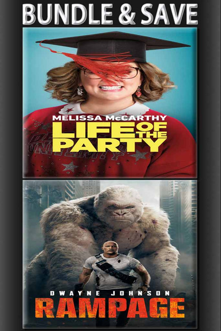 Life Of The Party + Rampage BUNDLE [Movies Anywhere HD, Vudu HD or iTunes HD via Movies Anywhere]