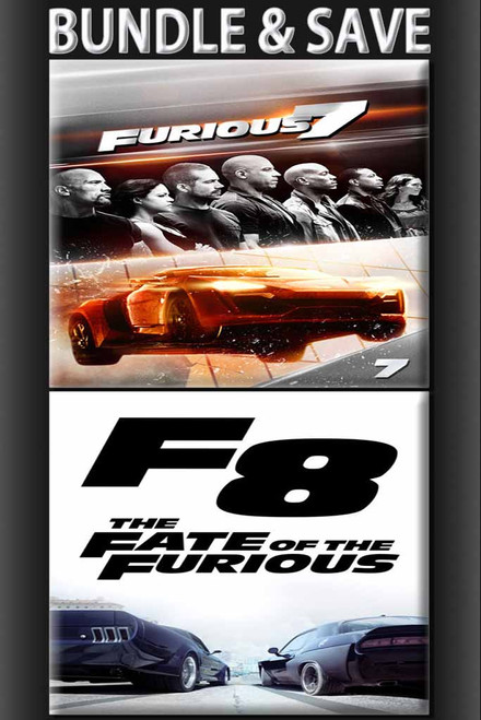 Furious 7 Extended + Fate Of The Furious BUNDLE [Vudu or iTunes via Vudu]