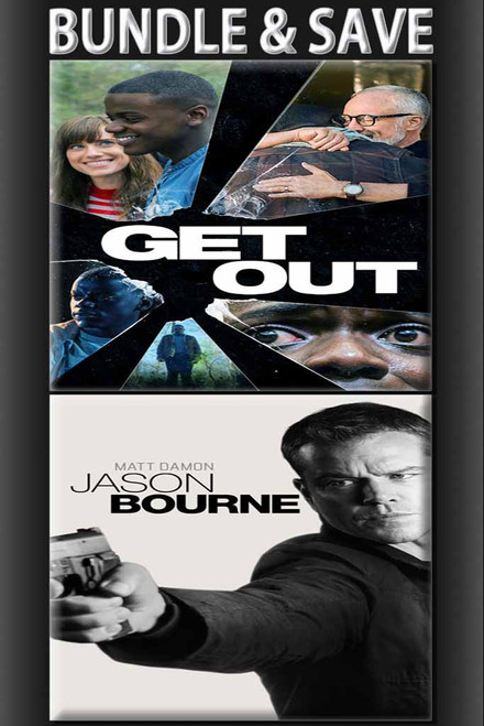 Get Out + Jason Bourne BUNDLE [Vudu HD or Movies Anywhere HD via Vudu]