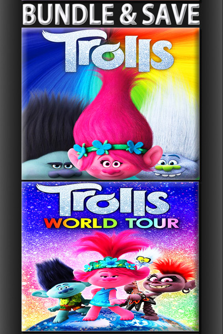 Trolls + Trolls World Tour BUNDLE