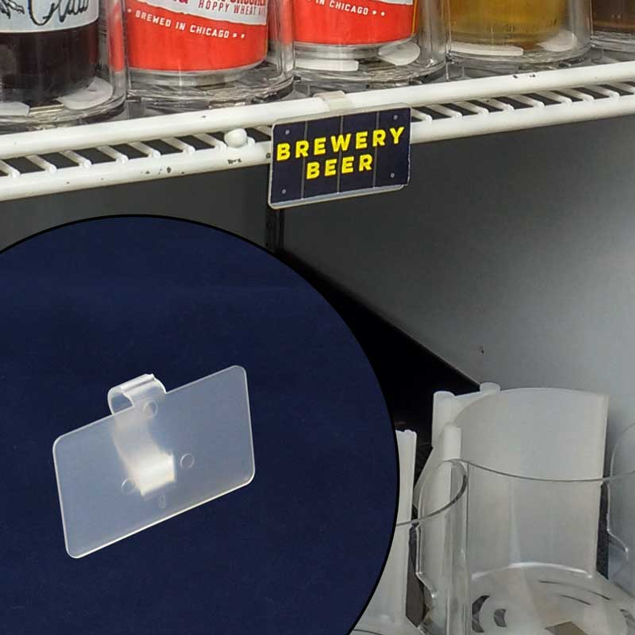 Heavy Duty Label Holder For Wire Freezer Cooler Shelving