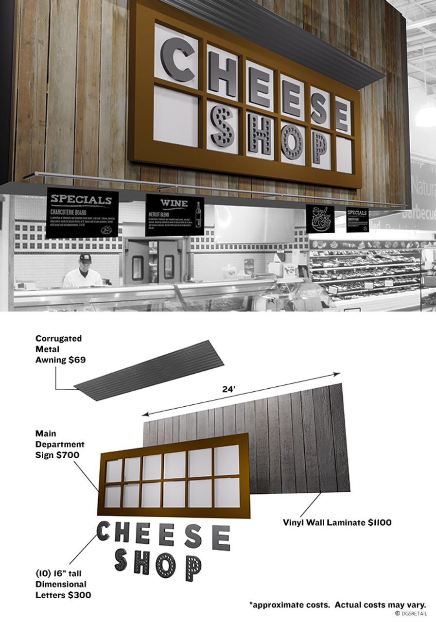 Deli Ideas and Design, Custom Copy Rustic Store Sign