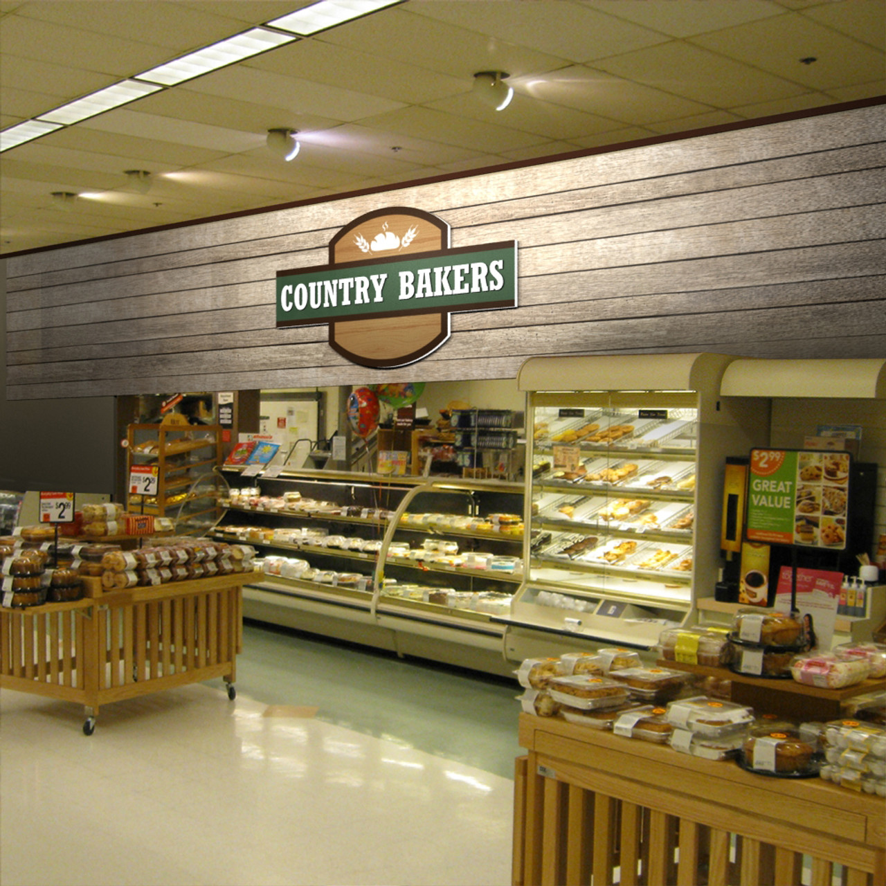 Custom Store Signs Wooden Design Bakery Signage