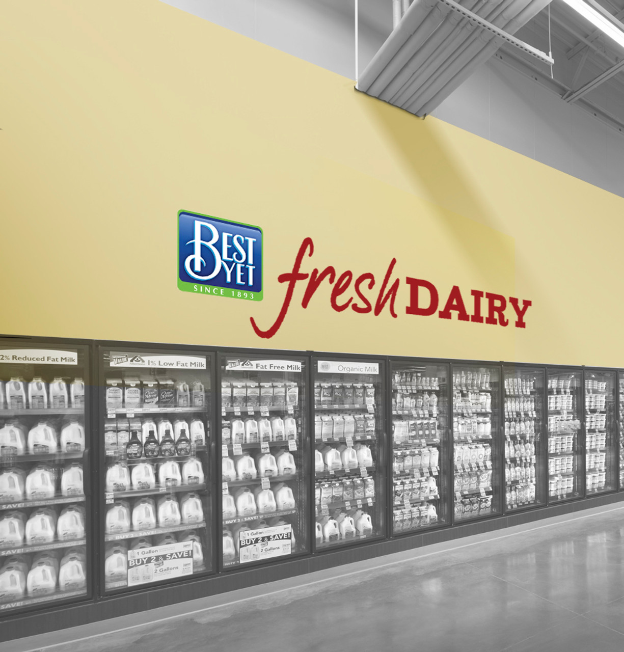 SELECT - Custom Vinyl Wall Lettering - Supermarket Decor Decals - 4 Sizes