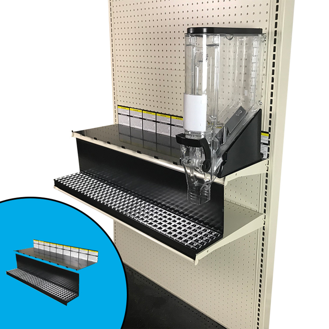 Top Shelf Crumb Tray Kit For Trade Fixtures 4 W Gravity Bins 36 W