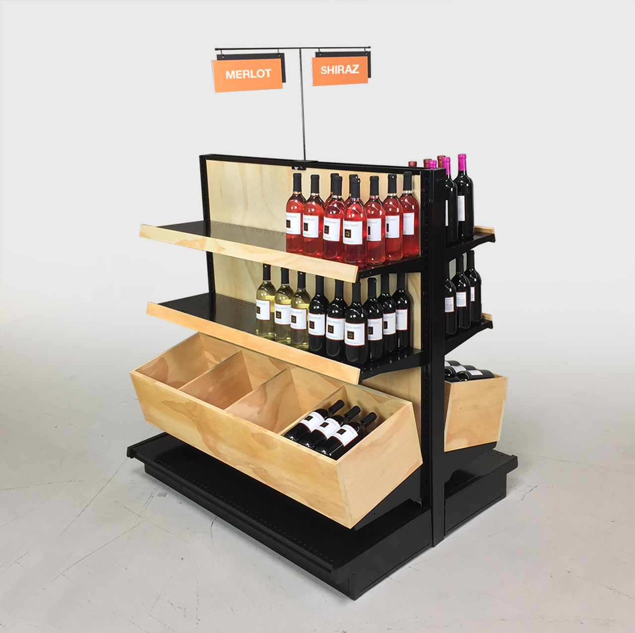 Wooden wine case Red Wine Wall Wine Racks For Stores Dgs Retail Liquor Store Shelving Wood Commercial Wine Racks Dgs Retail