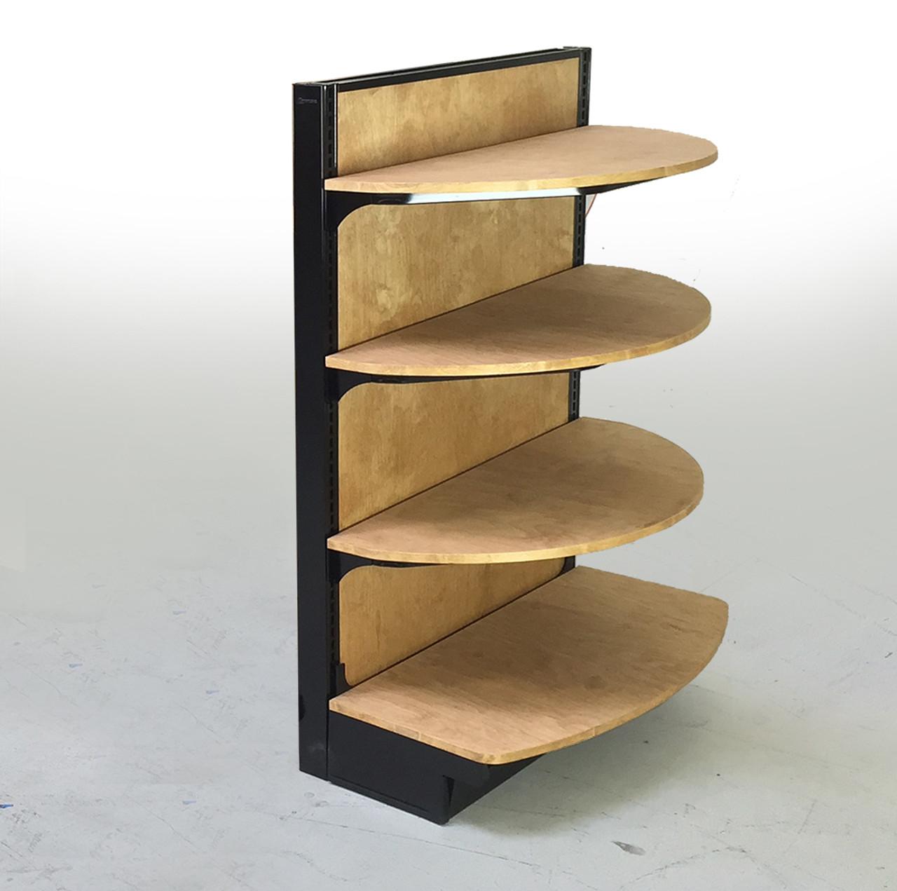 end caps in retail stores merchandising end caps dgs retail rh dgsretail com shoe shelves for stores display shelves for stores