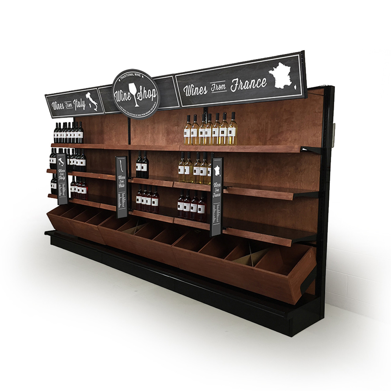Wine Shop Decoration Idea Liquor Shelving And Signs Kit 12ft L