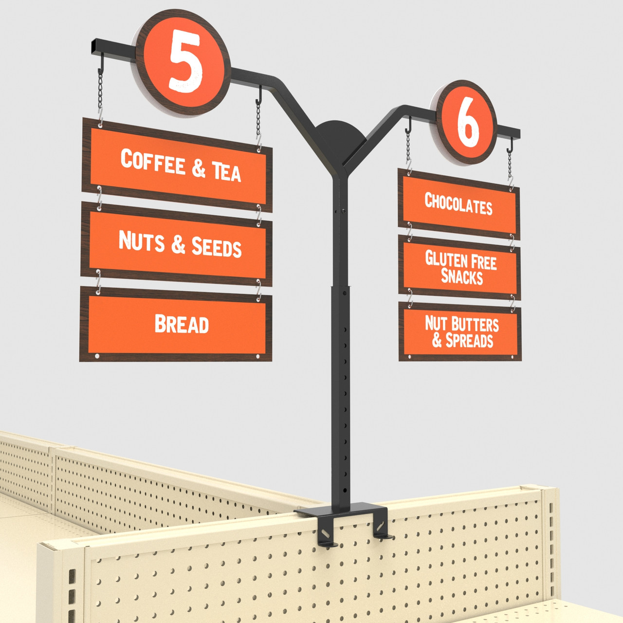 MCEWAN ENDCAP, Retail Store Design Ideas, Custom Gondola Aisle Signs