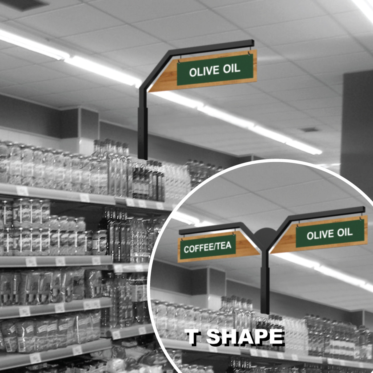 Gondola Shelving Inline Signs Store Aisle Markers