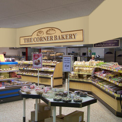 Grocery Store Interior Design | Low Cost Bakery Signs